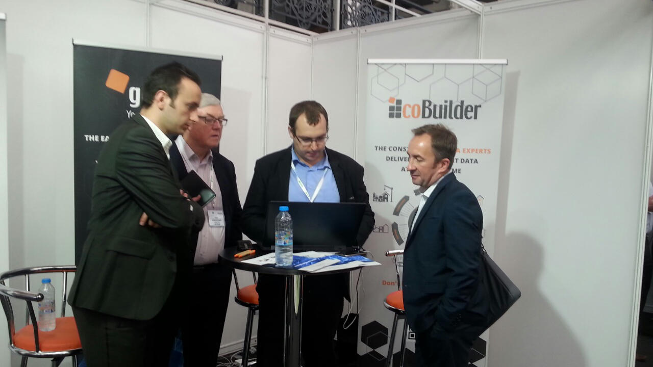 coBuilder's team during a trial at the digital construction week