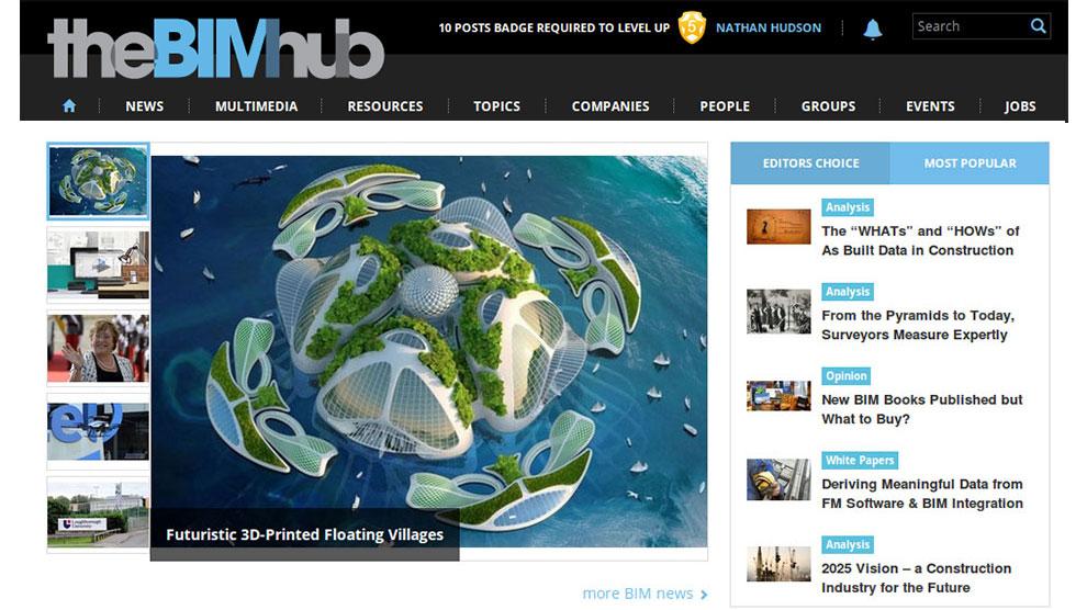 the BIM hub is a social media BIM professionals