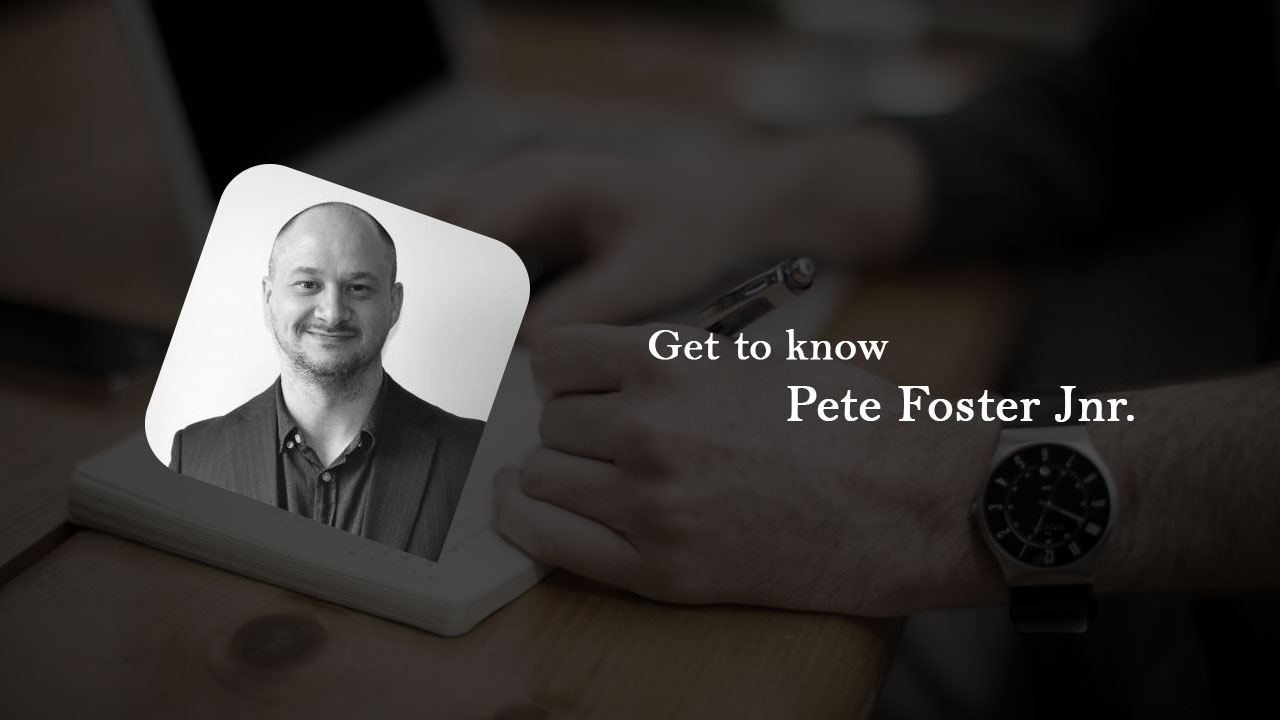 Interview with Pete Foster Jnr.